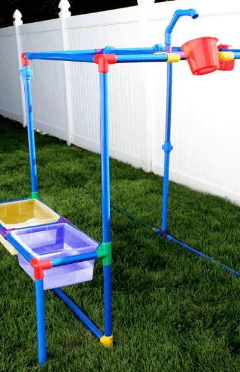 Buckets of Fun waterpark in yard